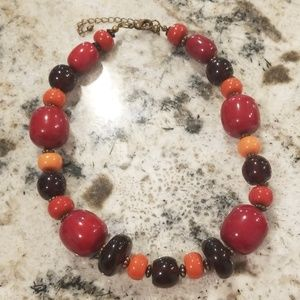 Red beaded costume jewelry